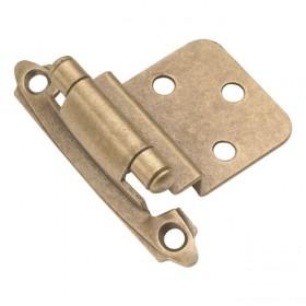 "Self Closing Hinge (Antique Brass) - 3/8"" Offset"