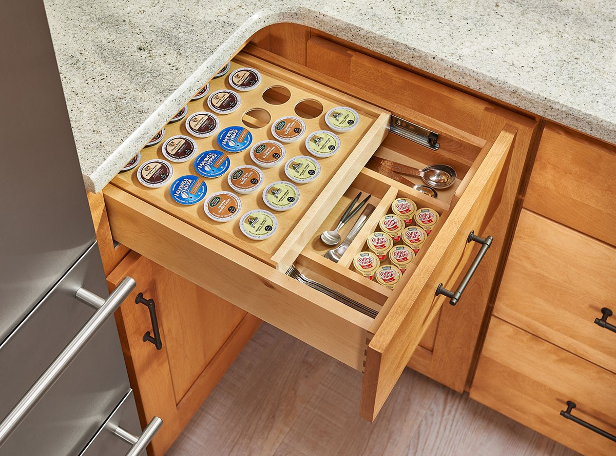 Tiered Soft Close K Cup Drawer For 18 Quot Base Cabinets
