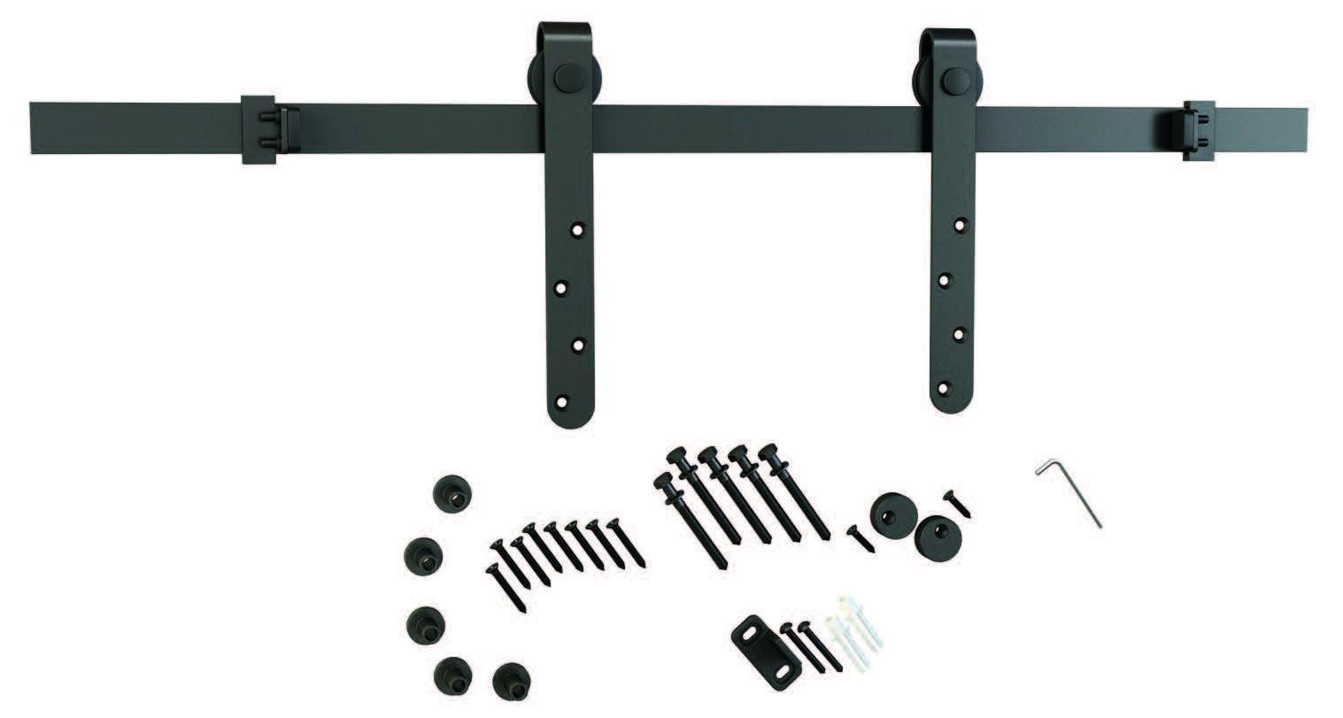 Mini Flat Rail Barn Door Hardware Kit Surface Mount
