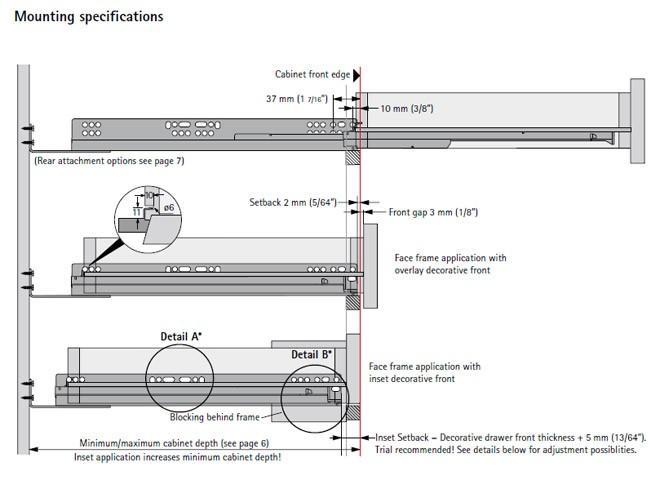 Hettich Quadro V6 Full Extension Under Mount Soft Close Drawer ...