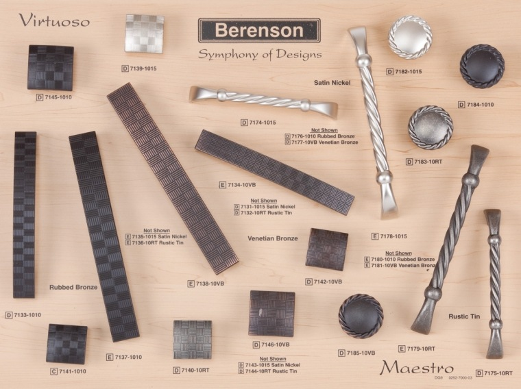 Vituoso and Maestro Berenson Decorative Hardware Board